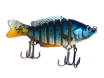 Blue Fishing Lure Isolated On A White Background (wobbler)