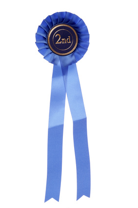 blue second place rosette