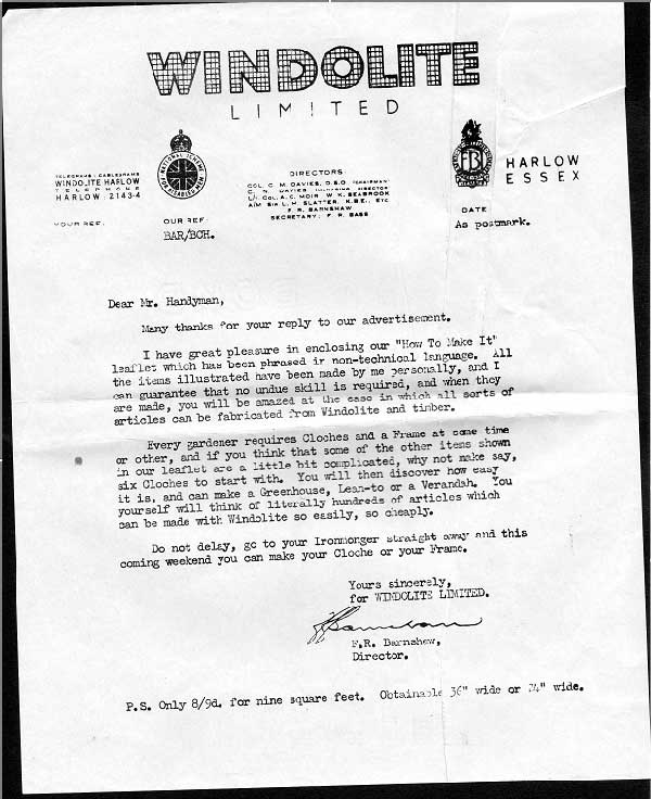 1953 windolite sales letter copywriting academy a spiritdancerdesigns Image collections